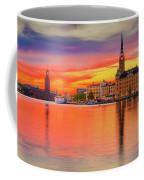 Stockholm Fiery Sunset Reflection Coffee Mug