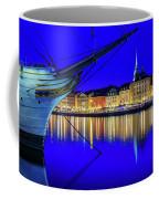 Stockholm Old City Blue Hour Serenity Coffee Mug