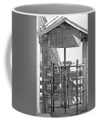 Stockyard Gate Black And White Coffee Mug
