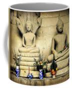 Stone And Flowers - Buddhist Shrine Coffee Mug