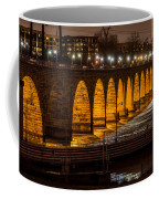 Stone Arch Bridge Night Shot Coffee Mug