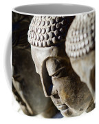 Stone Carved Buddha Faces Coffee Mug