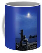 Stone Figure In Moonlight Coffee Mug