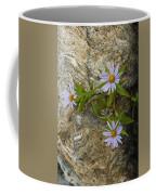 Stone Flowers Blue Coffee Mug