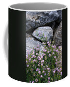 Stone Flowers Pink Coffee Mug