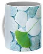 Stones And A Gingko Leaf Coffee Mug