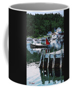 Stonington Harbor With Pier Maine Coast Coffee Mug