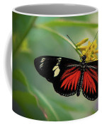 Butterfly, Stop And Smell The Flowers Coffee Mug by Cindy Lark Hartman