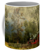 Storm Approaching White Birch Cottage Coffee Mug