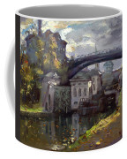Storm Aproach At Lockport Locks Coffee Mug