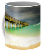 Storm Arrives At The Pier Coffee Mug