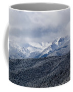 Storm Clouds Receding And Fresh Snow On Pikes Peak Coffee Mug