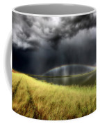 Storm Clouds And Rainbow Over Chaplin Lake Marshes Coffee Mug