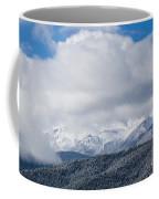 Storm Clouds And Snow On Pikes Peak Coffee Mug