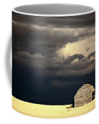 Storm Clouds Behind Abandoned Saskatchewan Barn Coffee Mug