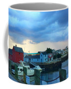 Storm Clouds Over Rockport Harbor Coffee Mug