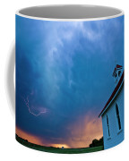 Storm Clouds Over Saskatchewan Country Church Coffee Mug