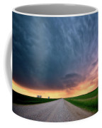 Storm Clouds Over Saskatchewan Country Road Coffee Mug