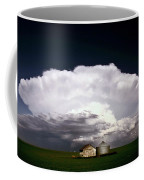 Storm Clouds Over Saskatchewan Granaries Coffee Mug