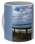 Storm Clouds Over The Beach Coffee Mug