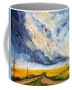 Storm Over The Country Road Coffee Mug