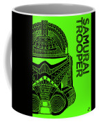 Stormtrooper Helmet - Green - Star Wars Art Coffee Mug