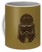 Stormtrooper Helmet - Star Wars Art - Brown  Coffee Mug
