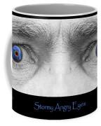Stormy Angry Eyes Poster Print Coffee Mug
