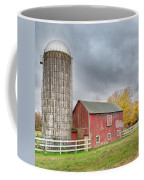 Stormy Autumn Skies Square Coffee Mug