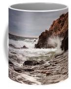 Stormy Beach Waves Coffee Mug
