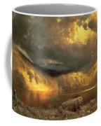 Stormy Skies Above Echo Lake White Mountains  Coffee Mug