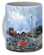 Stormy Sky Over Shipyard And Steel Mill Coffee Mug