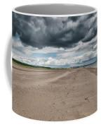 Stormy Weather Over Tentsmuir Beach In Scotland Coffee Mug