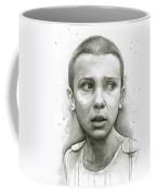 Stranger Things Eleven Upside Down Art Portrait Coffee Mug