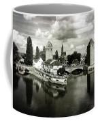 Strasbourg. View From The Barrage Vauban. Black And White Coffee Mug