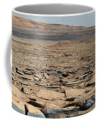 Stratified Rock On Mars Coffee Mug