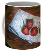 Strawberries-3 Contemporary Oil Painting Coffee Mug