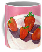 Strawberries And Cream Coffee Mug