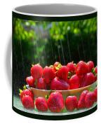 Strawberries And Summer Showers Coffee Mug