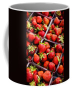 Strawberries With Green Weed In Plastic Containers  Coffee Mug