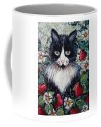 Strawberry Lover Cat Coffee Mug