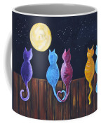 Stray Cats In Moonlight Coffee Mug