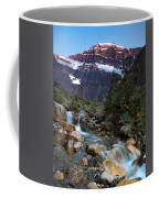 Stream And Mt. Edith Cavell At Sunset Coffee Mug