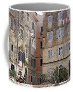 street and old buildings Corfu town Coffee Mug