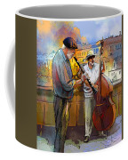 Street Musicians In Prague In The Czech Republic 01 Coffee Mug