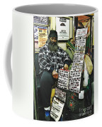 Street Preacher On The A Train Coffee Mug