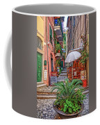 Street Scene Monterosso Italy Dsc02470 Coffee Mug