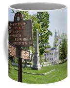 Street Sign In Fitzwilliam, New Hampshire Coffee Mug
