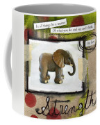 Strength Coffee Mug by Linda Woods