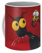 Stressiecat And The Bird Coffee Mug